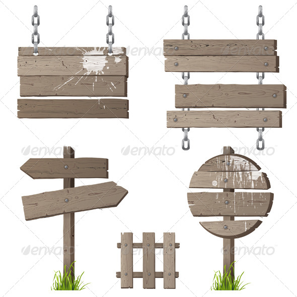 GraphicRiver Wooden Signs 5278241