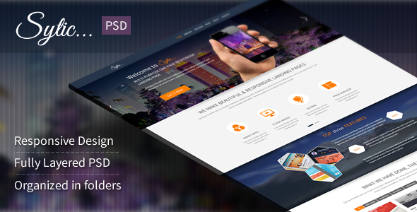 Sytic - Multi-Purpose PSD Landing Page