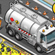 Isometric Liquid Tanker Truck in Front View - GraphicRiver Item for Sale