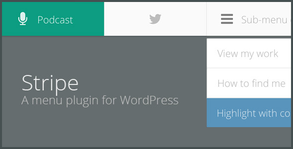 STRIPE - A lightweight menu plugin for WordPress - CodeCanyon Item for Sale