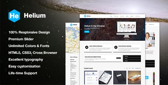 ThemeForest Helium Responsive HTML5 CSS3 Theme 5280400