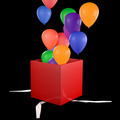 Opened Gift Box with Balloons - PhotoDune Item for Sale