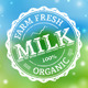 Milk Stamp - GraphicRiver Item for Sale