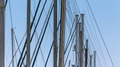 Row of Sailboat Masts in the Blue Sky - PhotoDune Item for Sale