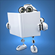 3D Robot reading a book with blank cover - GraphicRiver Item for Sale