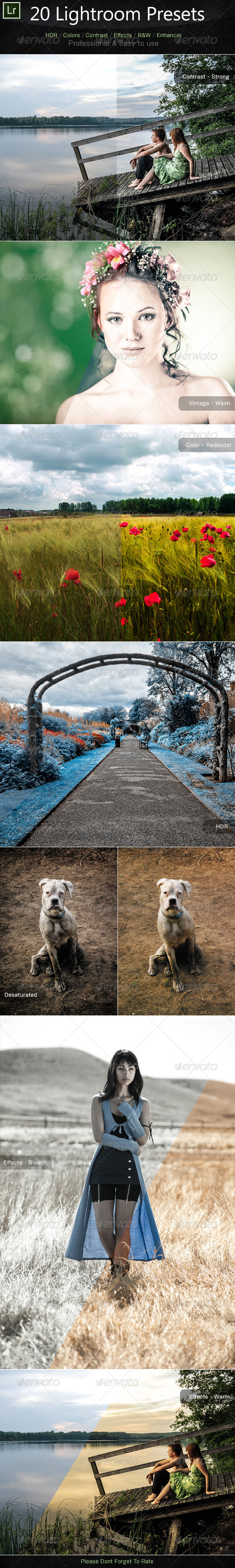 GraphicRiver 20 Lightroom Presets 5266205