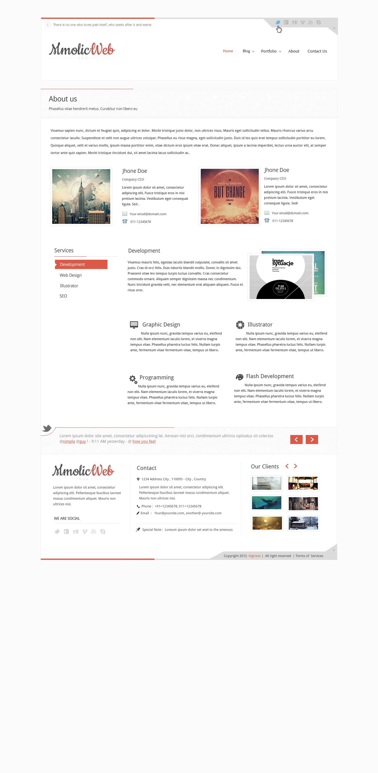 Mmolic web - Creative and Clean  Psd Template