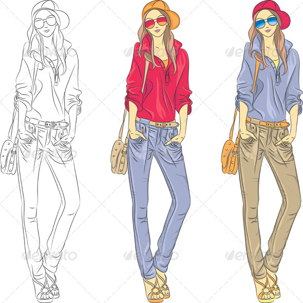 GraphicRiver Fashion Girls Top Model 5283101