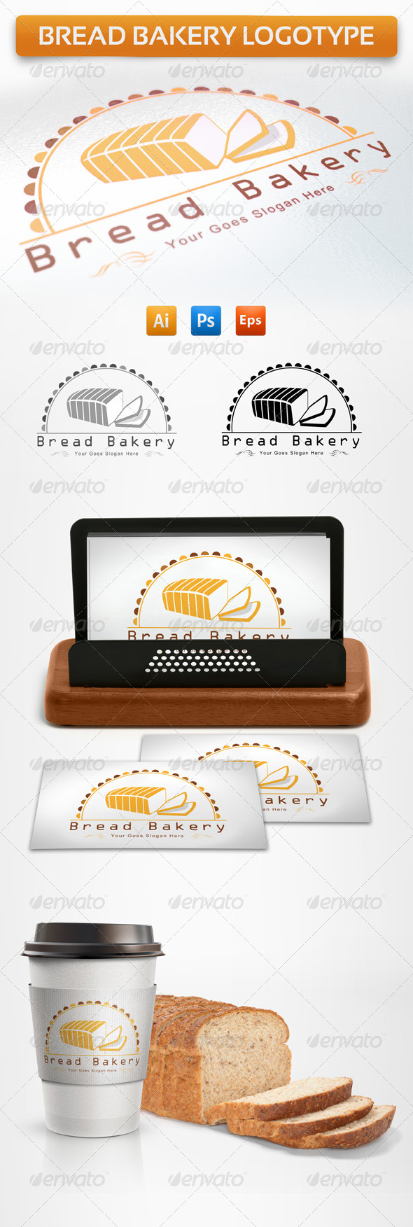 GraphicRiver Bread Bakery Logotype 5250645