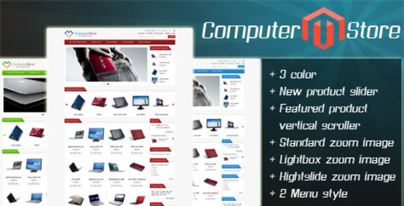 ThemeForest Computer Store Magento Themes 501180