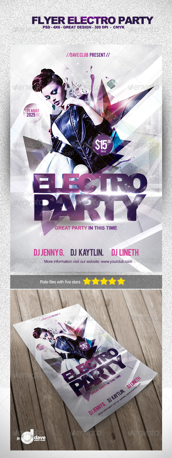 GraphicRiver Flyer Electro Party Template 5284226