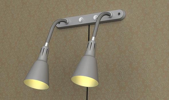 3DOcean Realistic Ikea Wall Lamp 5268707