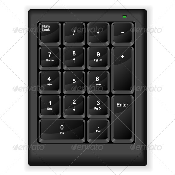 GraphicRiver Computer Numeric Keyboard 5285048