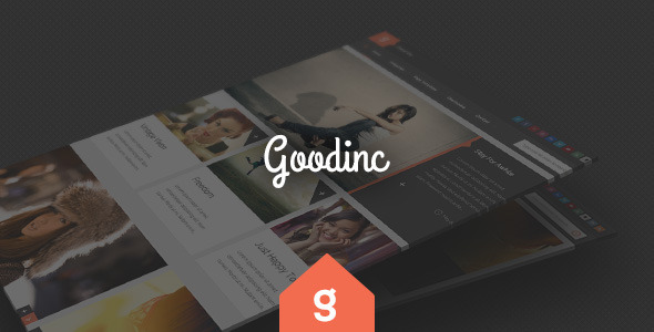 GoodInc Flat Responsive WordPress Blog, News Theme - Blog / Magazine WordPress