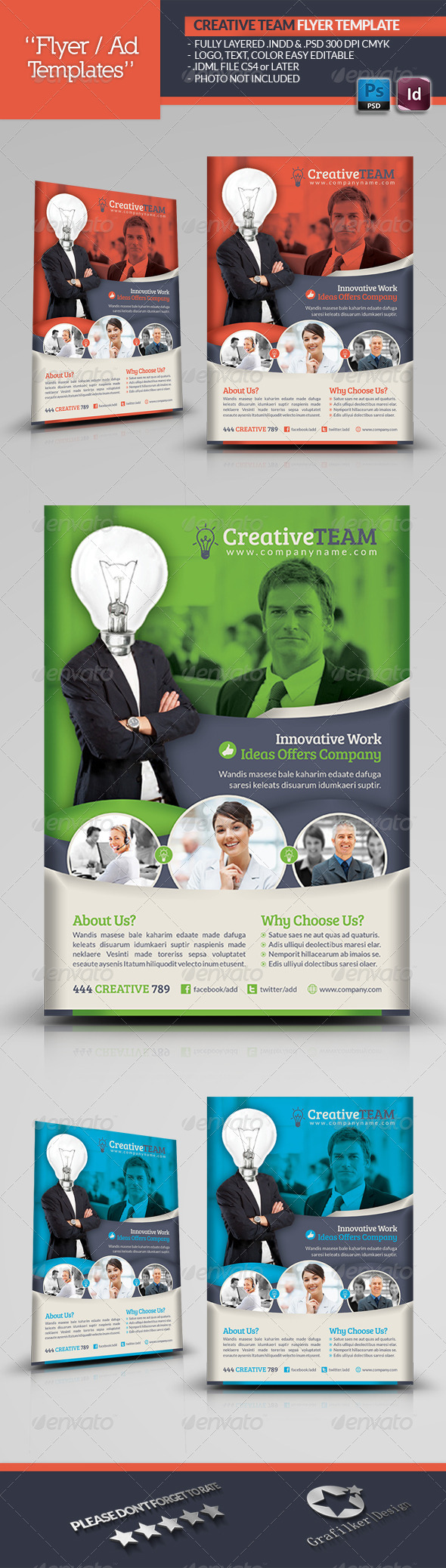 Creative Team Flyer Template - Corporate Flyers