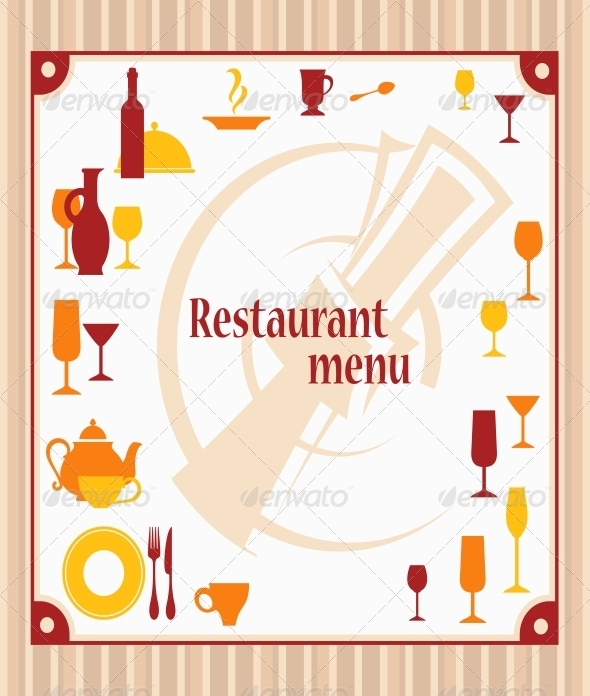 GraphicRiver Cover of Restaurant Menu 5285868