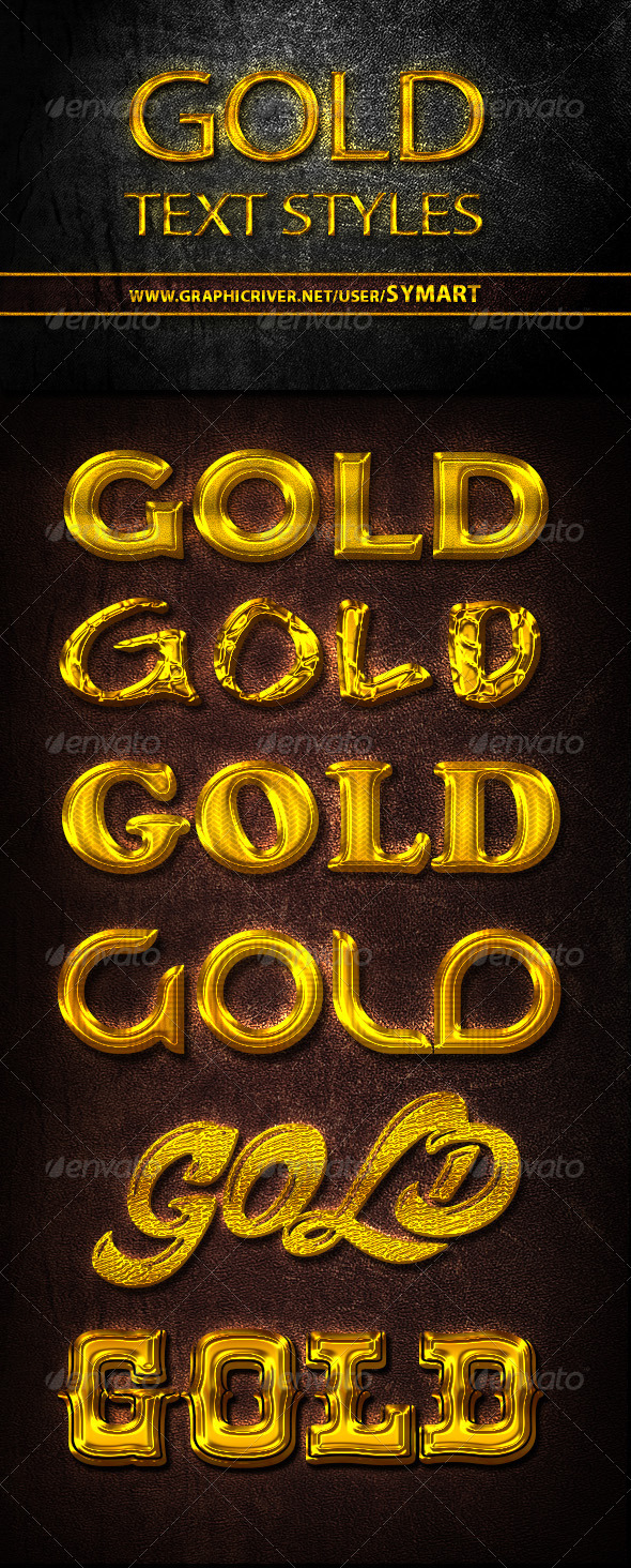 GraphicRiver Gold Text Styles 5286094