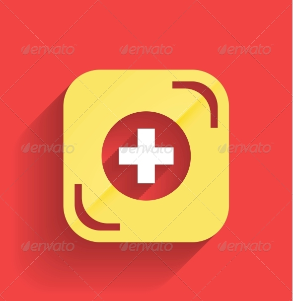 GraphicRiver Vector Health Help Icon Flat Design 5286539