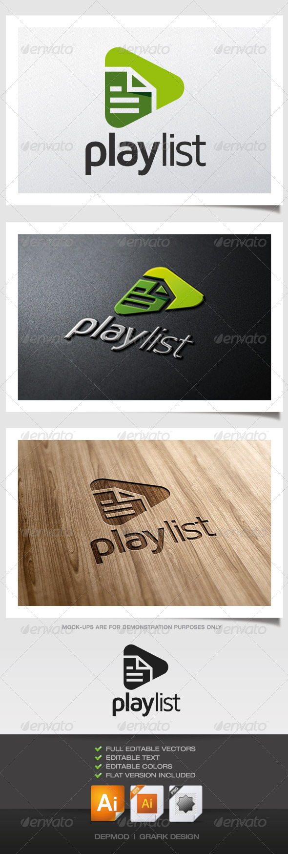 GraphicRiver Play List Logo 5286751