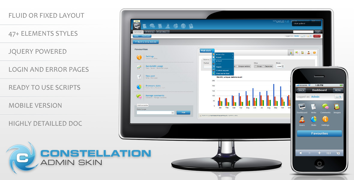 Constellation complete admin skin - Constellation complete admin skin