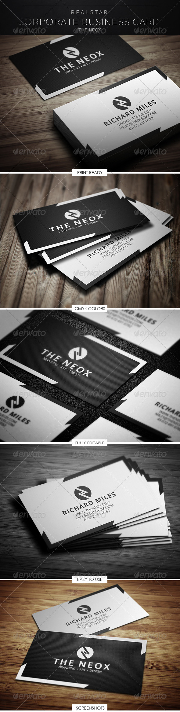 GraphicRiver The Neox Corporate Business Card 5287983
