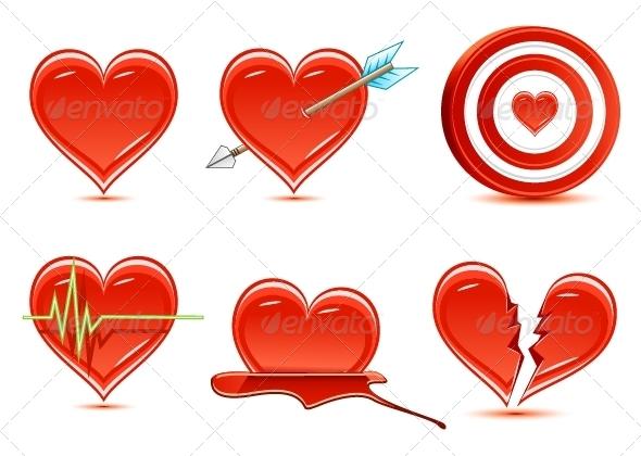 GraphicRiver Six Hearts 5290263