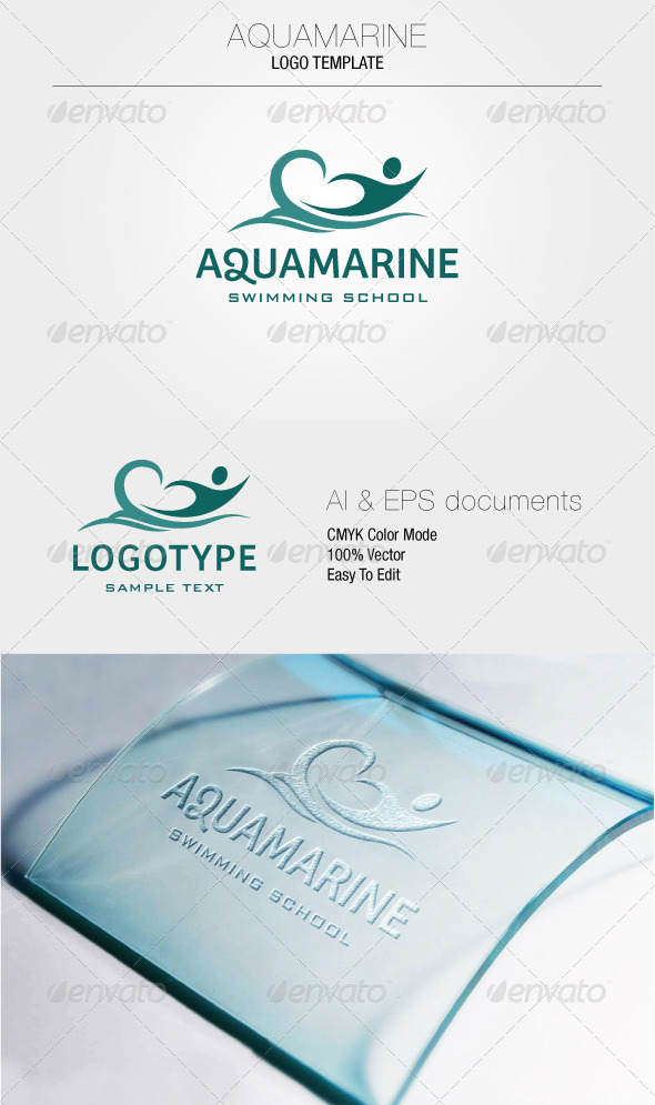 GraphicRiver Aquamarine Logo Templates 5290982