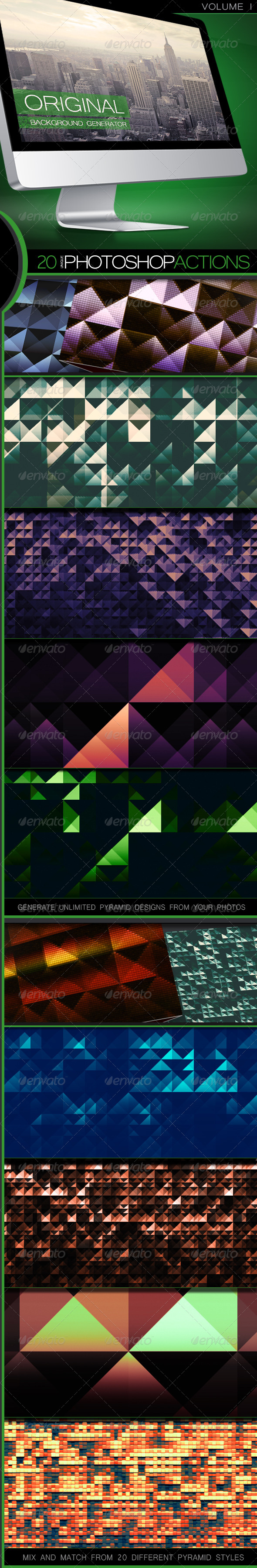 GraphicRiver Pyramid Backgrounds Generator Actions 5291448