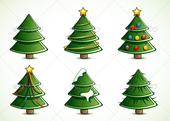 GraphicRiver Christmas Trees 5291778