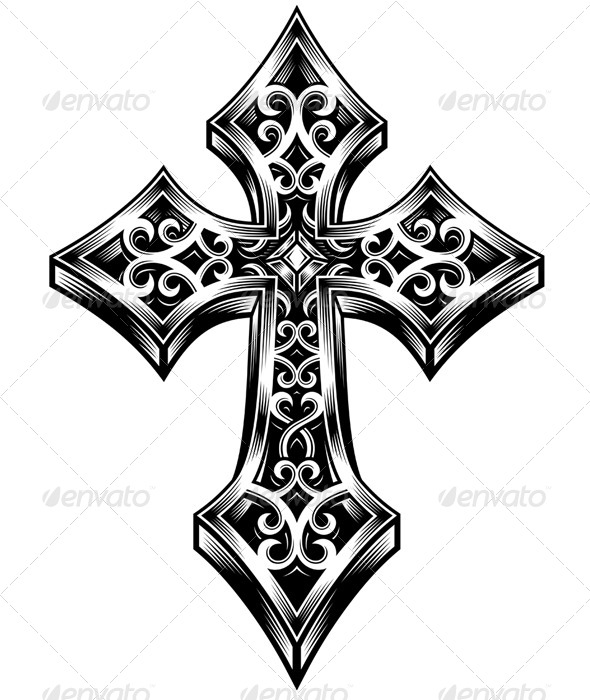 GraphicRiver Ornate Celtic Cross Vector 5291873