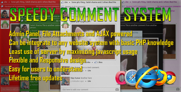 CodeCanyon Speedy Comment System 5292098