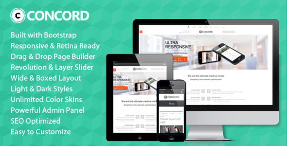 ThemeForest Concord Retina Responsive Multi-Purpose WP Theme 5291835