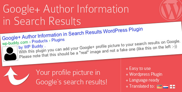 Google Plus Author Information in Search Results - CodeCanyon Item for Sale