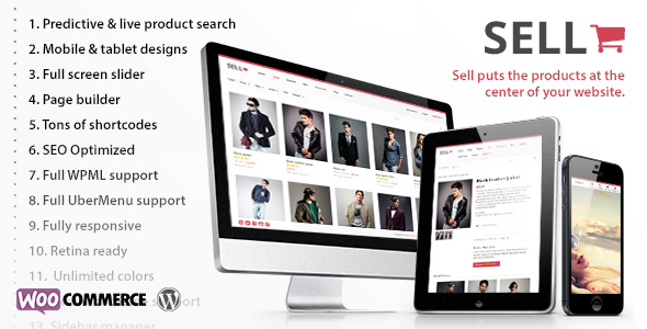 Sell: Responsive eCommerce WordPress Theme - WooCommerce eCommerce