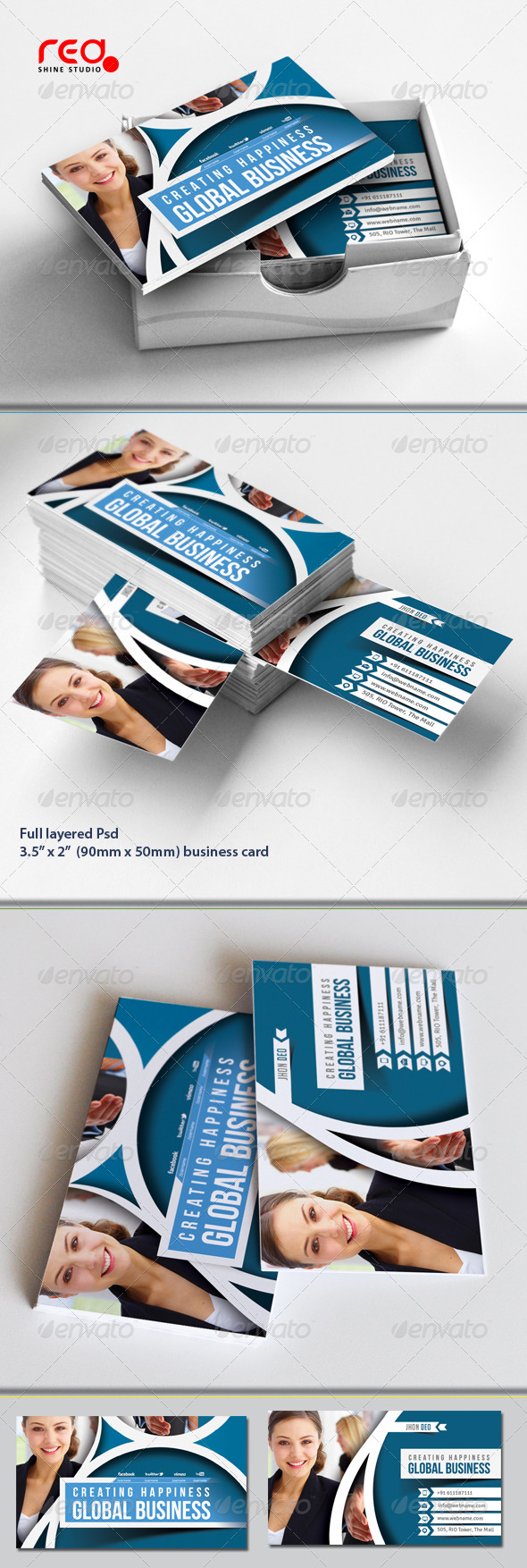 Corporate Business Card Set - Corporate Business Cards