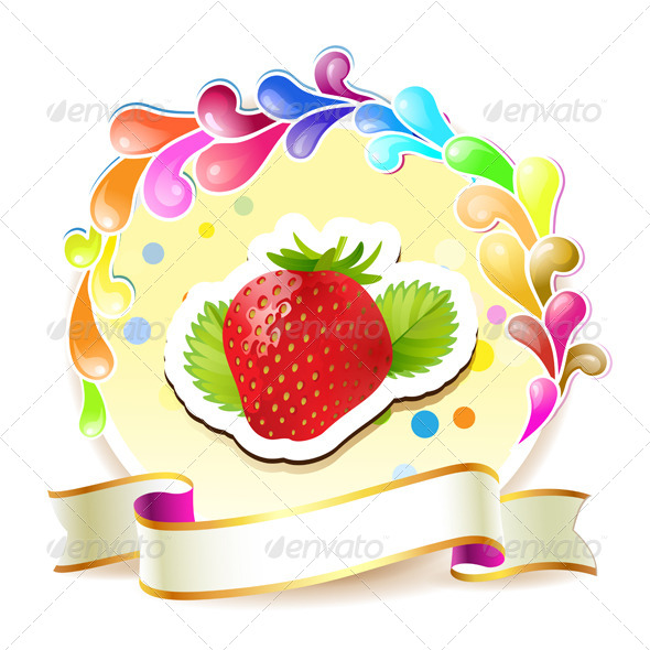 GraphicRiver Strawberry with Leafs 5292588