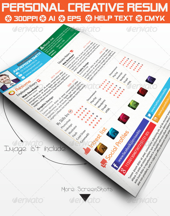 GraphicRiver Creative Personal Resume 5292674
