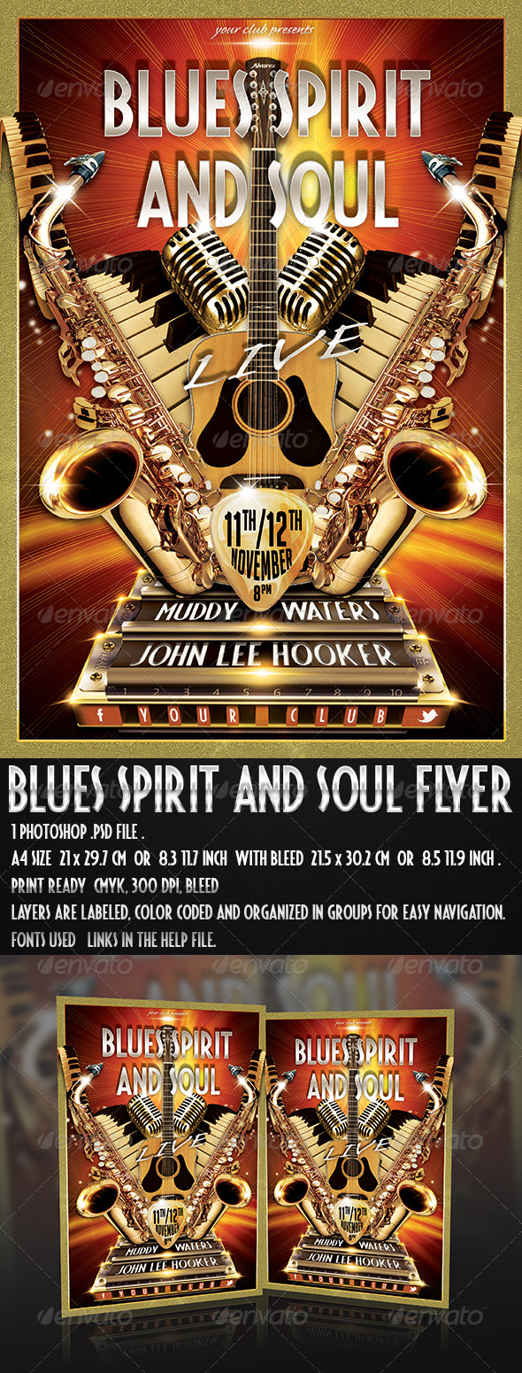Blues Spirit and Soul Flyer - Concerts Events
