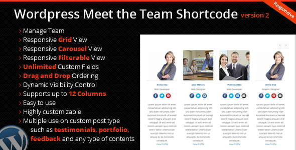 CodeCanyon Wordpress Meet the Team Shortcode Plugin 5292781