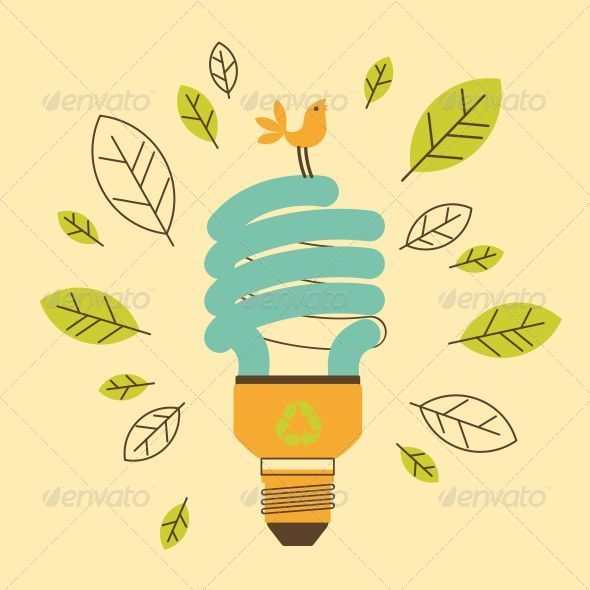 GraphicRiver Ecological Saving Lamp 5292788