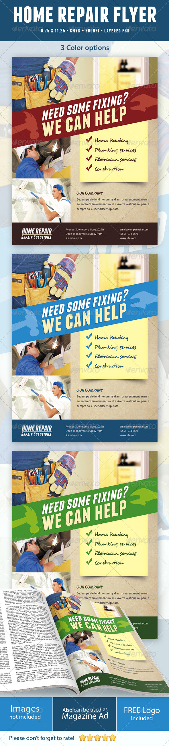 GraphicRiver Home Repair Flyer 5293533