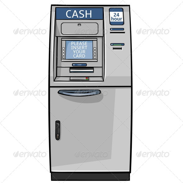 GraphicRiver Vector Cartoon Cash Machine 5293889