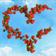 I Love Fresh Food - Strawberry Heart on Sky - VideoHive Item for Sale