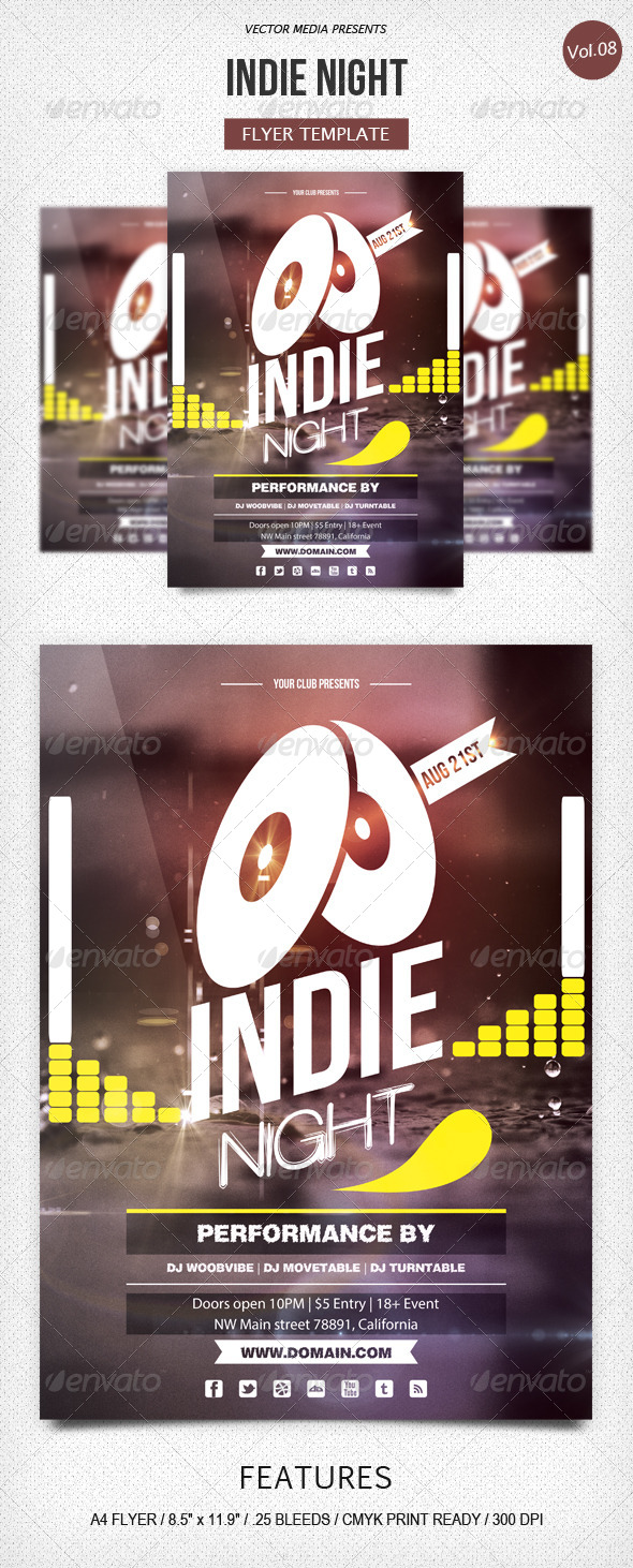 GraphicRiver Indie Night Flyer [Vol.8] 5294074
