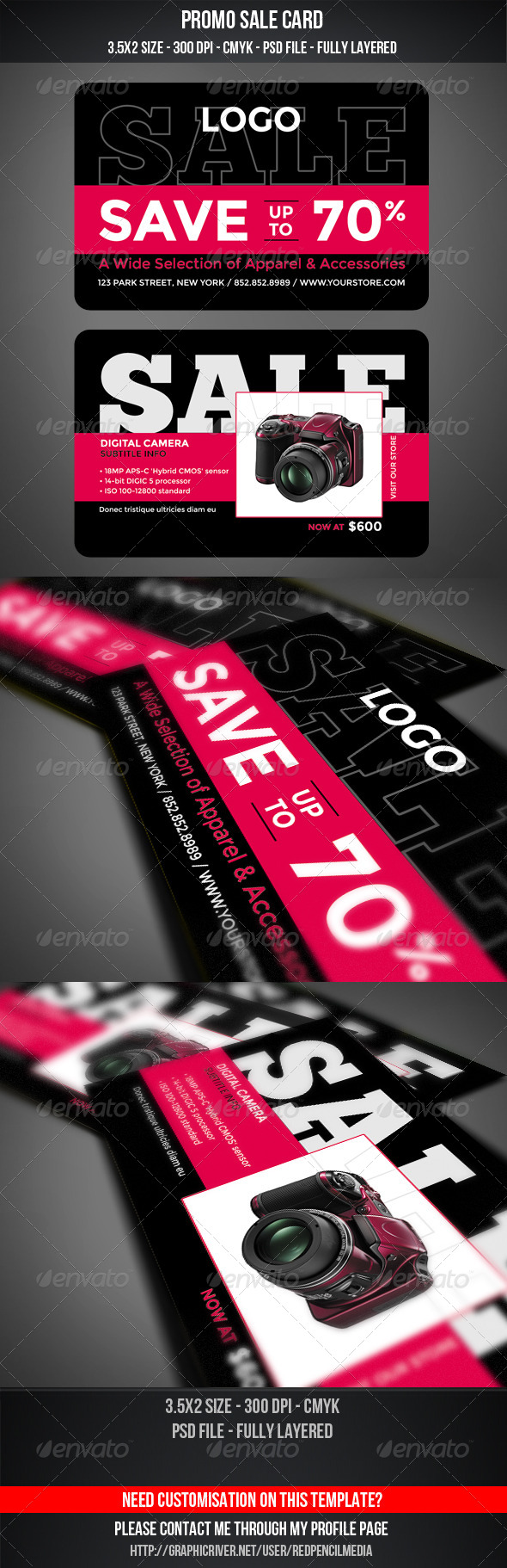 Promo Sale Card - Cards & Invites Print Templates