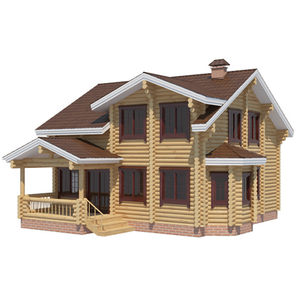 3DOcean Log House 5286111