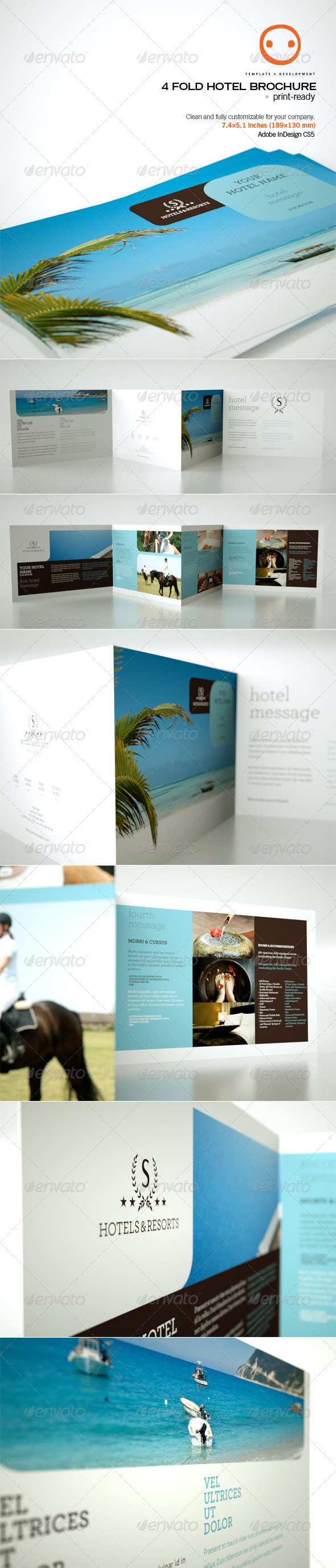Graphic River 4 Fold Hotel Brochure Print Templates -  Brochures  Corporate 537003