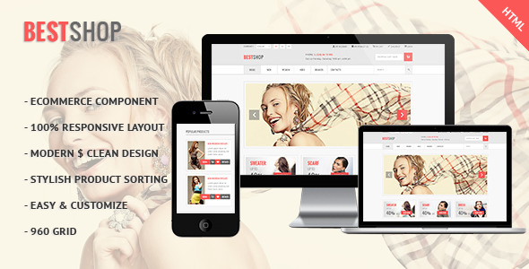 ThemeForest Bestshop E-commerce HTML Template 5294540