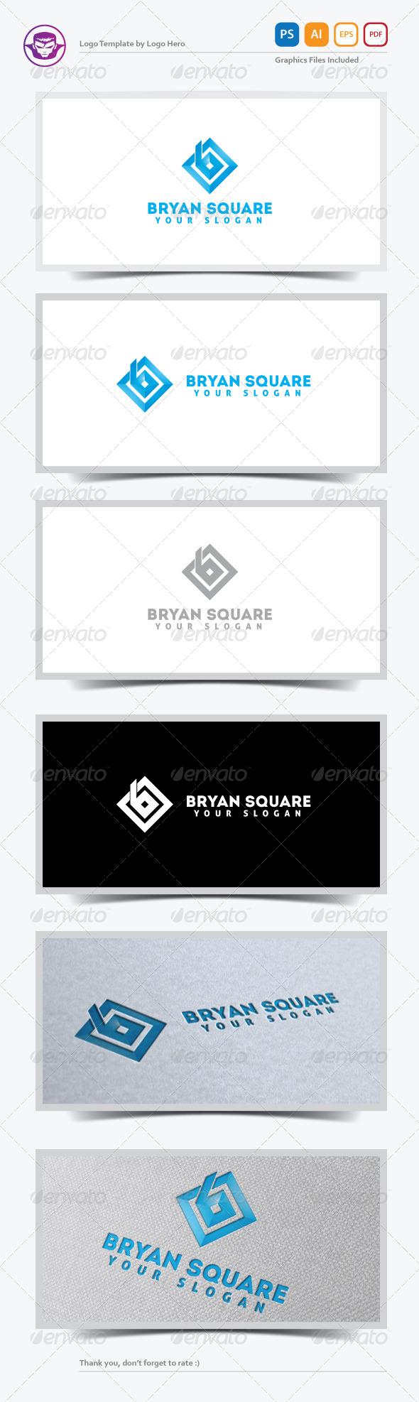 GraphicRiver Bryan Square Logo Template 5295537