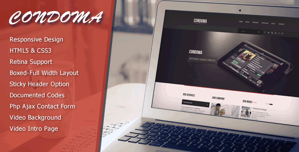 Condoma - Creative Business/Personal Theme - Creative Site Templates
